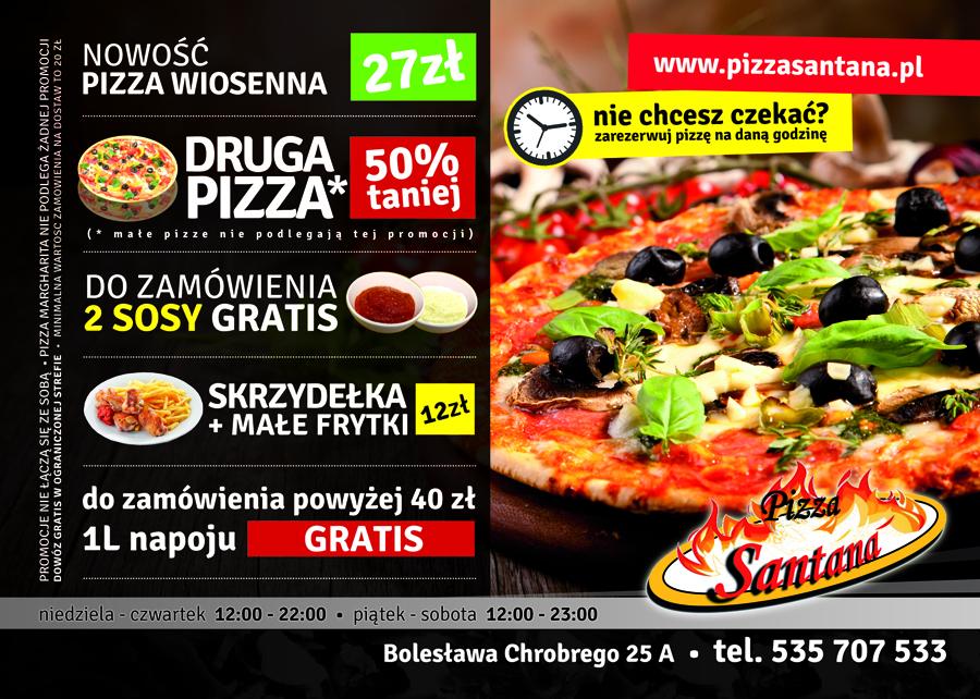 Pizzeria Santana - Ulotka A5 Front (4)