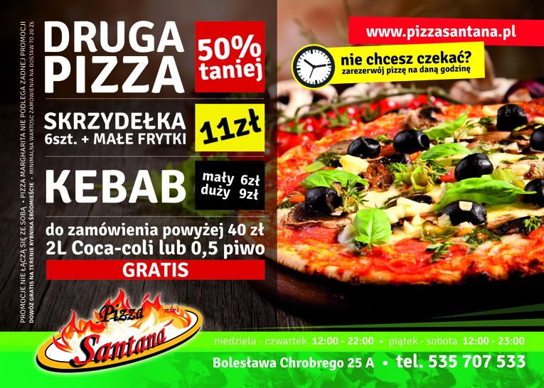 Pizzeria Santana - Ulotka A5 Front